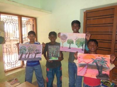 Happy Home art class